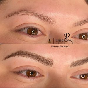 Phibrows shading Nallely Barreras
